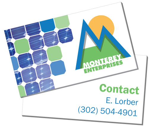 Monterey Contact Info and Business Card Graphic